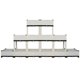 Six boxes elevated large rectangular plastic planter