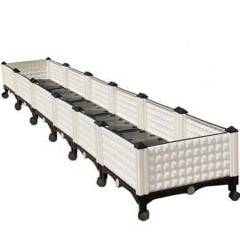 Six joint deepen lengthen rectangular plastic planter