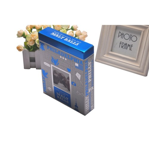 Personalizzato Carta ecologica argento carta Confezione regalo scatola di cioccolato con logo in rilievo