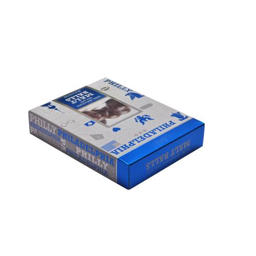 تخصيص ورقة صديقة للبيئة الفضة ورقة الشوكولاته هدية مربع التعبئة والتغليف مع شعار النقش