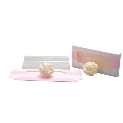 الجملة سلة المغلفة ورقة الوردي صناديق رمش مع إدراج البلاستيكية والتطريز مات