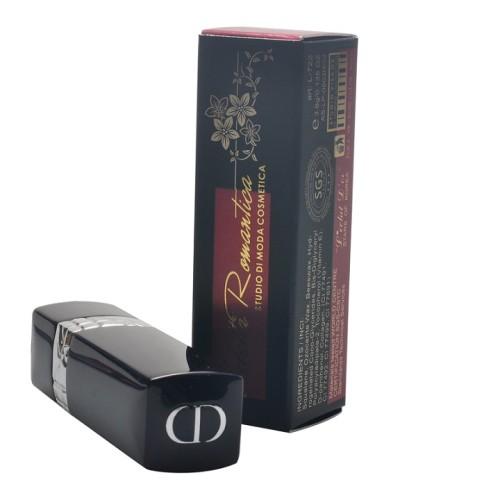 Confezione di lusso fatta a mano con carta dorata e rossetto di carta con stampa a caldo e vernice perlata