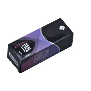 customized recycle coated paper nail box packaging with spot gloss UV and silver foil