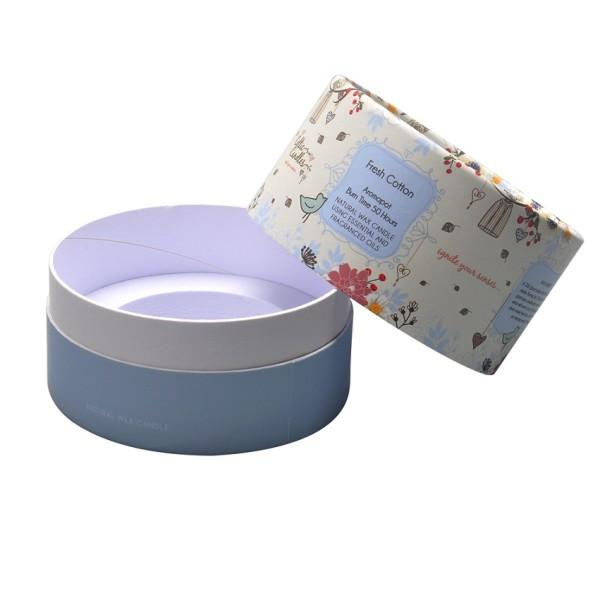 Portacandele di carta ecologica con rivestimento superiore e inferiore all'ingrosso con schiuma EVA e laminazione opaca