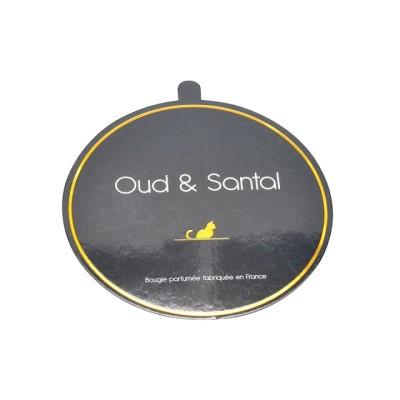 couvercles en papier couché de haute qualité et couvercle anti-poussière avec logo dorés