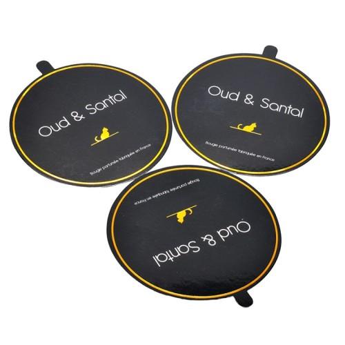 المهنية عالية الجودة ورقة الأغطية المغلفة وغطاء الغبار مع شعار احباط الذهبي