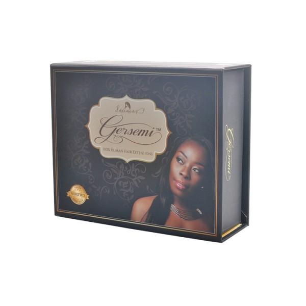 Imballaggio della scatola di estensione dei capelli del cartone a forma di libro fatto a mano su misura di stampa di CMYK per il regalo
