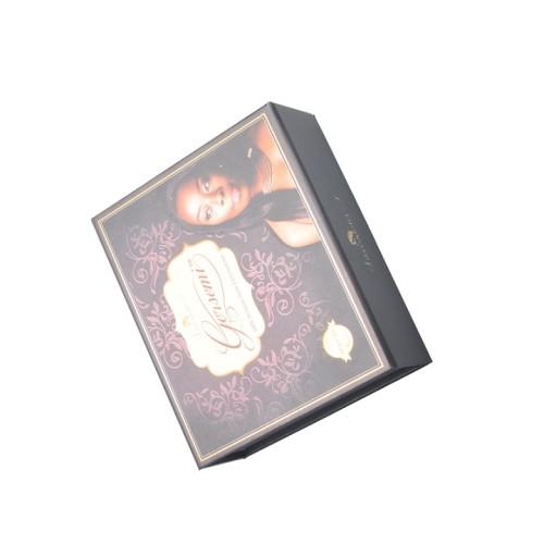 تخصيص الطباعة اليدوية CMYK كتاب شكل كرتون الشعر ارشادية مربع التعبئة والتغليف للهدايا