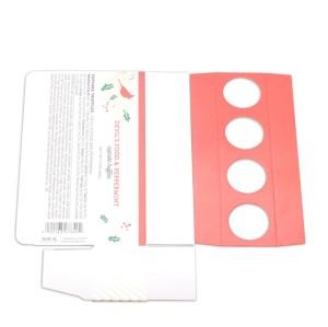جميل ورقة بيضاء الكرتون تصميم مربع الشوكولاته الطباعة مع ورقة إينسير الغذاء الصف ونافذة PVC