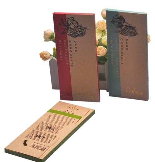 إعادة تدوير المواد الغذائية على شكل مربع ورقة مربع الشوكولاته التعبئة والتغليف المصنوعة في الصين