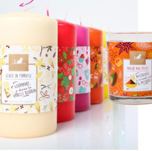 Colorful and decorative art paper  candle wrap packaging with matt lamination made in China