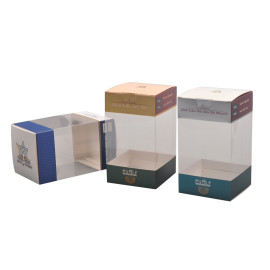 Colorful custom high quality printed cosmetic PVC boxes for packing cream