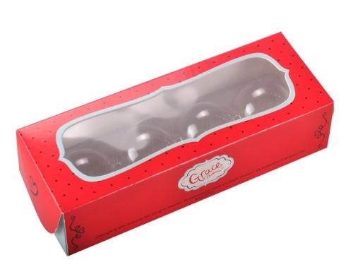 صناديق الشوكولاته ورقة مغلفة مخصصة رخيصة مع إدراج PVC للتعبئة كب كيك الصانع