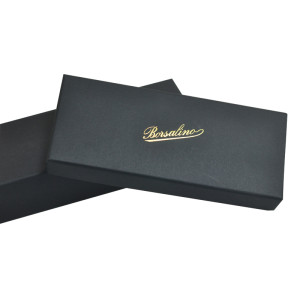 Beautiful Charming  black cardboard top and bottom high quality jewelry box for packing necklace