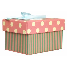 Custom fancy cardboard paper gift box with ribbon for packing excellent gift