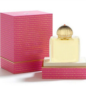 Beautiful Charming custom cardboard  paper pink  perfume box packaging in St. Valentine's Day