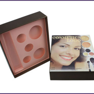 Hot Sale lid and base cardboard beauty cosmetic box gift sets with paper insert