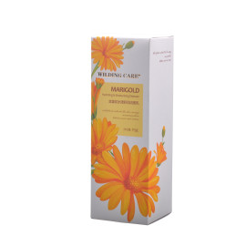 Flowers printing custom skin care packaging for lotion and facial cleanser with hot stamping
