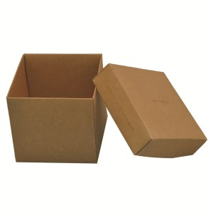 Recycle high quality lid and base kraft paper suare chocolate box price