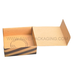 luxury and New Arrival brown kraft paper chocolate with sleeve