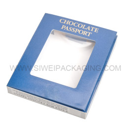 Best Sale book shaped paper and pvc boxes for chocolates with hot stamping