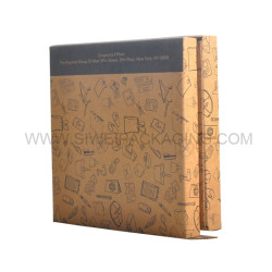 Promotional spacial shaped dark chocolate corrugated  box office collection with box insert