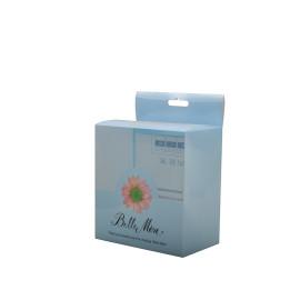 Customized new design CMYK printing transparent pvc box with hangle