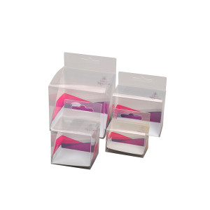 Best sale and promotional plastic clear pvc box set Made in China