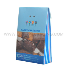 Spacial shaped coated paper elegant chocolate box with ribbon design