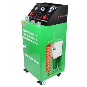 Máquina limpiadora de carbón Mantenimiento de autos máquina motor
