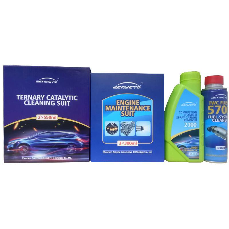 Productos químicos para la limpieza del motor.