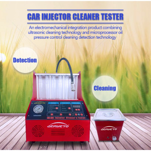 Gasoline nozzles cleaning and testing machine for cars