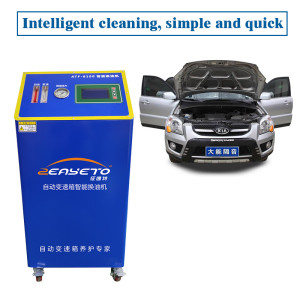 Transmission flush machine for changing gearbox oil and clean the transmission