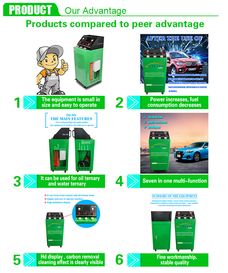 Car hydrogen engine cleaner hho mobile car service equipment