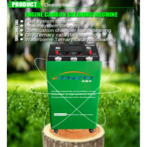Engine carbon cleaning machine for cleaning spark plug deposits