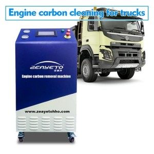 Engine carbon cleaning machine for tucks