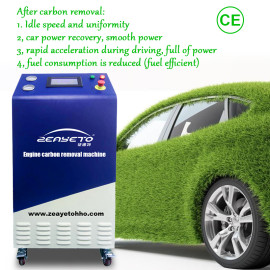 Máquina limpiadora de carbón motor para vehículos de gasolina.