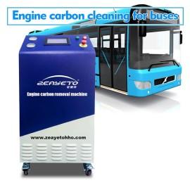 Máquina limpiadora de carbón motor para autobuses.