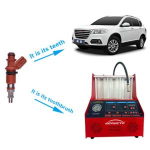 Probador y limpiador de inyector de combustible 220 voltios para boquillas Máquina de prueba de equilibrio