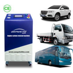 Factory of auto maintenance about engine carbon removal machine hho material safe