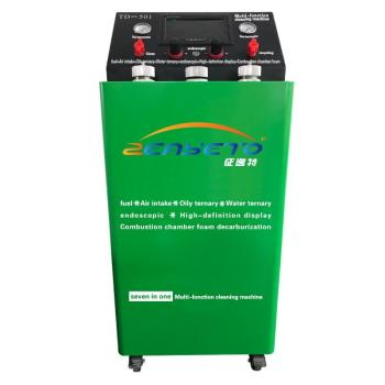 Multi-function machine intake system cleaning engine depth carbon removal equipment