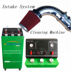Multi-function machine ternary catalytic converter service fuel line cleaning