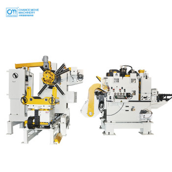 Thick plate type 3-in-1 servo decoiler straightener feeder machine