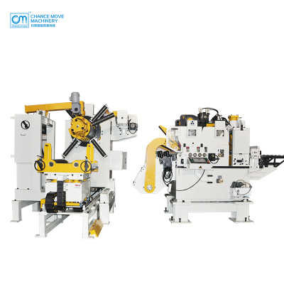 厚板型三机一体式伺服料架整平送料机(Thick plate type 3-in-1 servo decoiler straightener feeder machine)