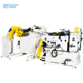 Uncoiling and leveling feeder special for high-strength plate