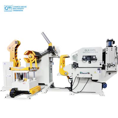 Special for medium plate type 3-in-1 servo decoiler straightener feeder machine