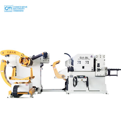 中板专用三机一体式伺服开卷整平送料机(Special for meddle plate type 3-in-1 servo decoiler straightener feeder machine)