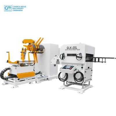薄板专用三机一体式开卷整平送料机(Special for thin plate type 3-in-1 servo decoiler straightener feeder machine)