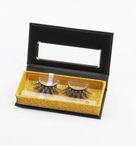 Natürliche lange falsche Wimpern mit benutzerdefinierten Wimpernverpackung 25 mm Streifenwimpern