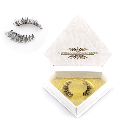 Human hair strip eyelash extensions high quality eyelash
